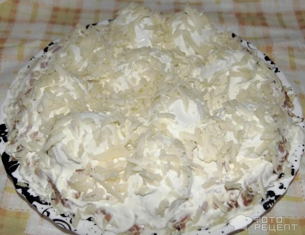 Салат сугробы пошаговое фото