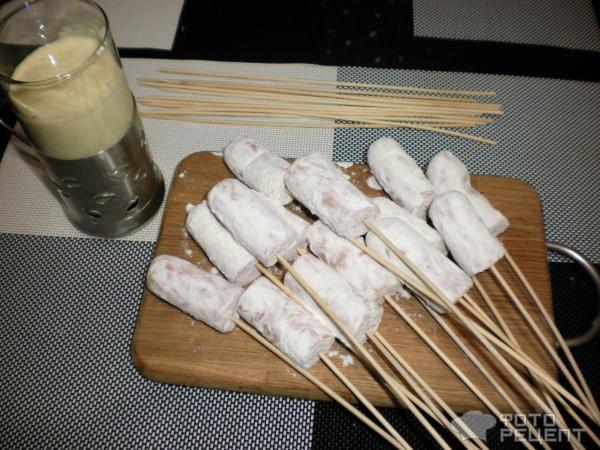 Сосиски на палочке в кляре рецепт с фото