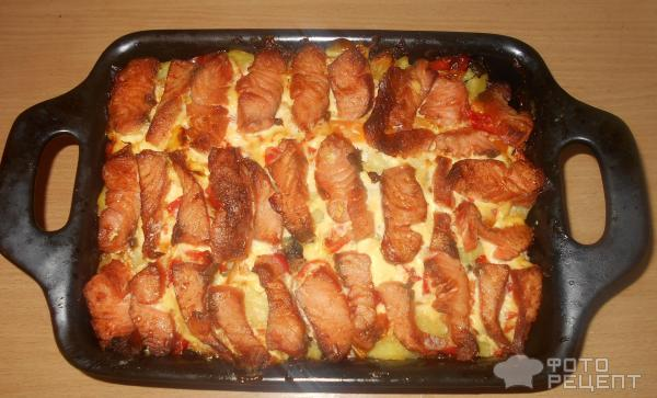 Рецепт семги в духовке с картошкой рецепт