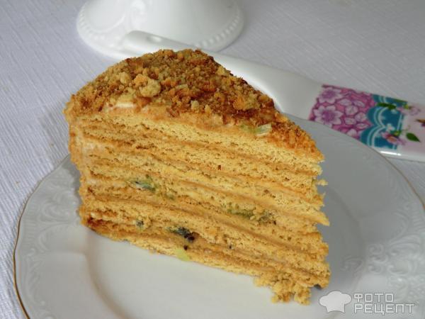 Торт с вареной сгущенкой и сметаной рецепт