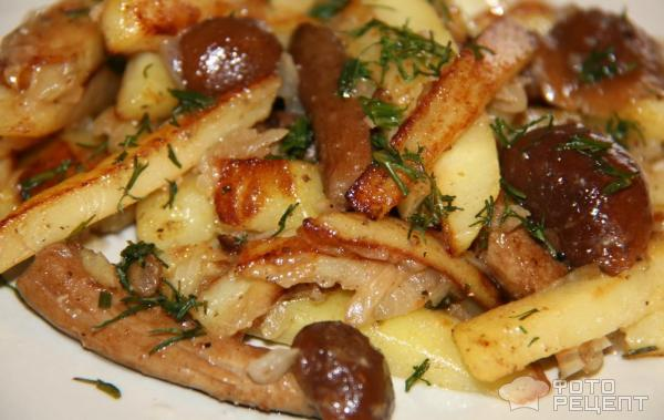 Замороженные грибы с картошкой рецепт с пошагово