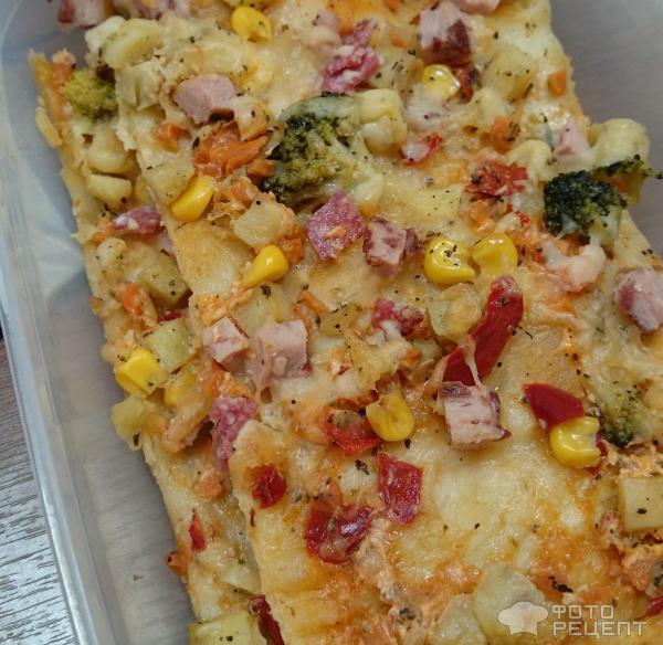 Пицца на тонком тесте в домашних условиях в духовке 9