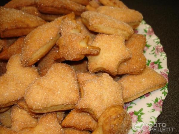 Слоеное печенье с сахаром рецепт с фото