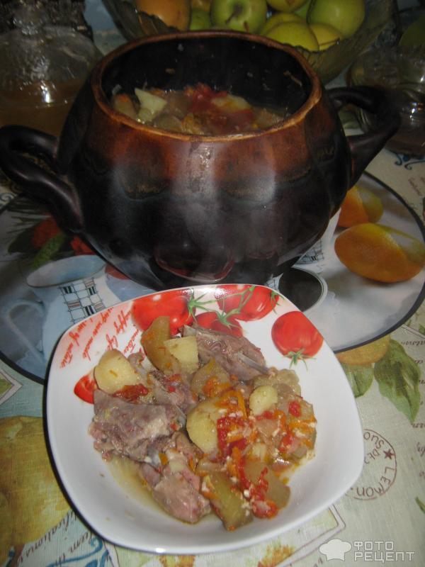 Чанахи из говядины в горшочках рецепт в духовке