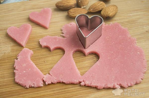 Марципановые сердечки фото