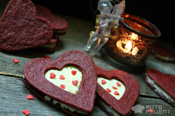 Сэндвич-печенье Красный бархат фото