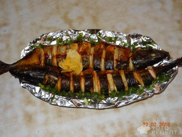Скумбрия с овощами рецепт с фото