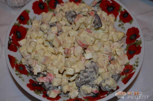 Салат грибы крабовые палочки рецепт с