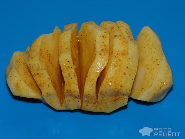 Постный картофель запеченый в фольге фото
