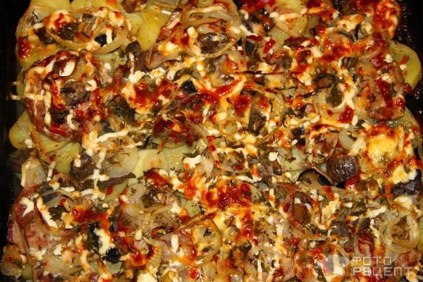 Слоеный картофель с мясом Дипломат фото