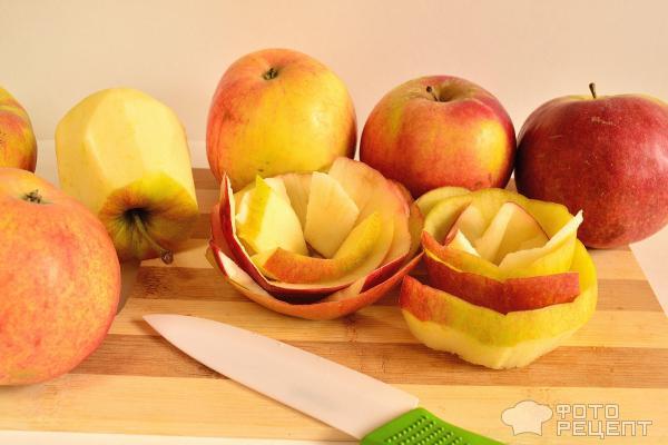Пирог с яблочными розами фото