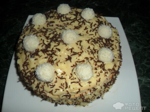 Торт Рафаэлло на сковородке