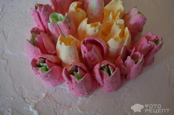 Торт Весенний букет фото