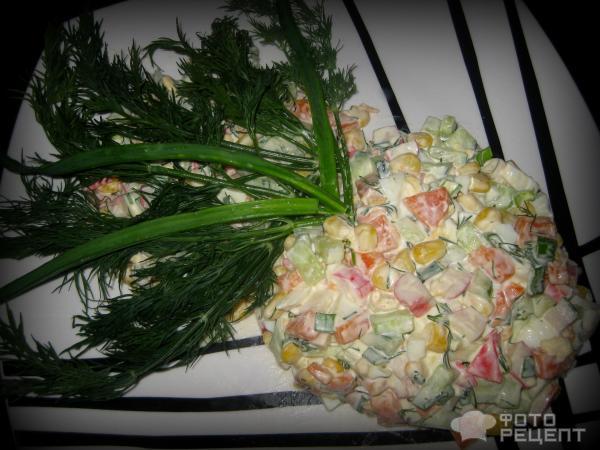 Салат цветок папоротника рецепт с