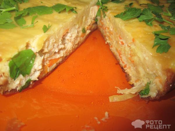 Рецепт пирога с курицей жидкое тесто