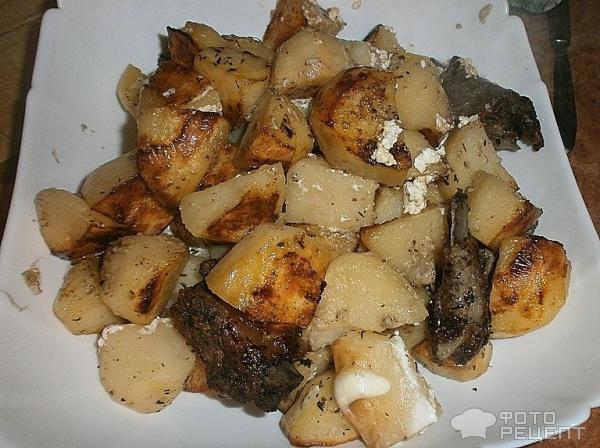Тушеная картошка с ребрышками в духовке рецепт с пошагово 66