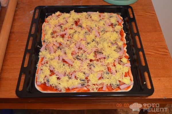 Тонкая пицца в домашних условиях в духовке пошаговый