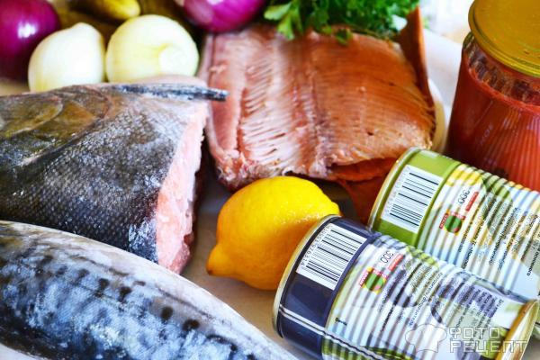 Рецепт: Рыбная солянка - Сборная классическая