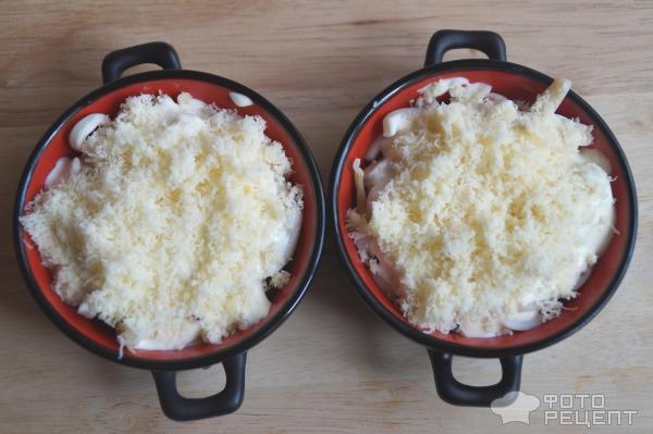 Жульен с кальмарами рецепт с фото
