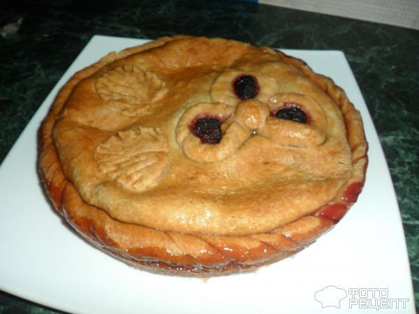 Постный пирог с фруктами
