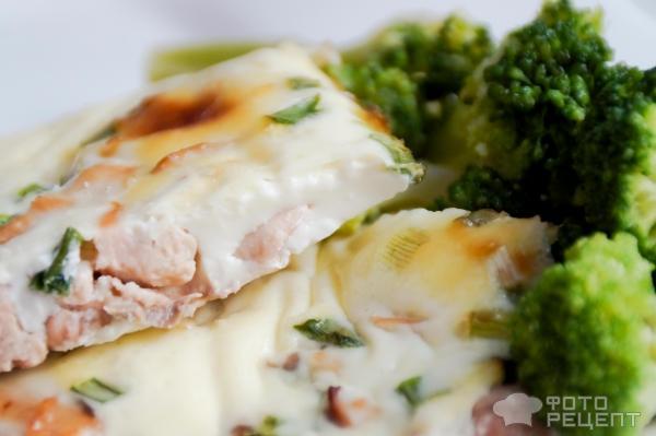 Рыба под омлетом рецепт с фото