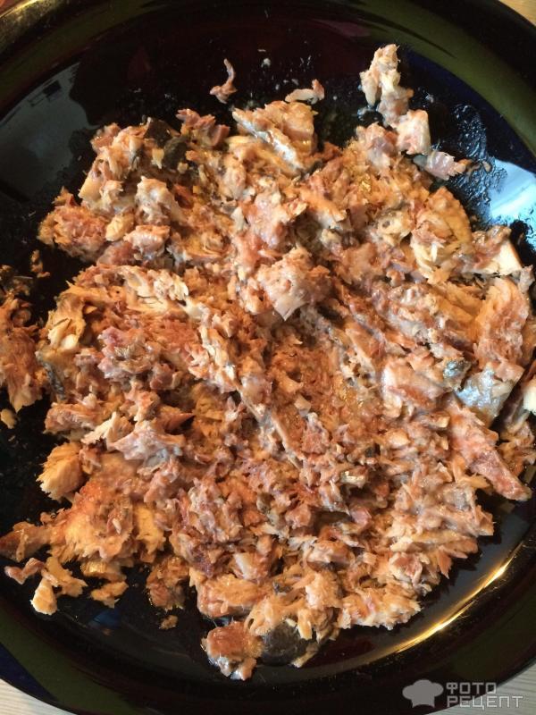 Рыбный пирог с картофелем фото