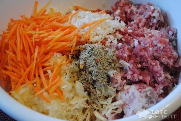 Ёжики с капустой и рисом рецепт