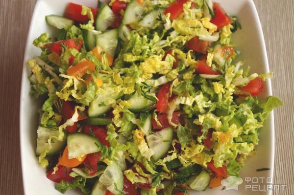 Овощной салат с сыром рецепт