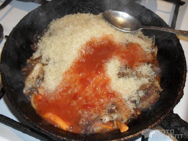 плов рецепт с фото пошагово на сковороде