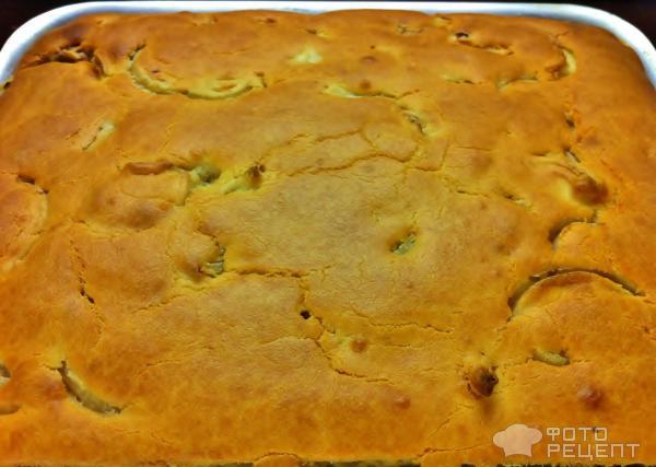 Пирог из жидкого теста с фаршем рецепт с в духовке