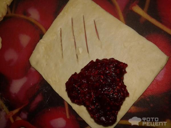 Рецепт слойки с малиной