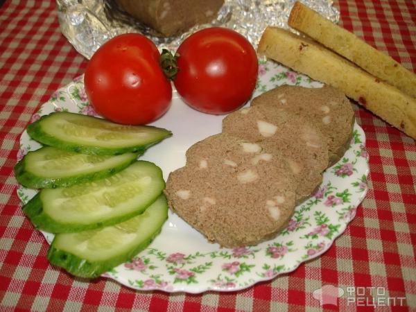 Печеночная колбаса фото