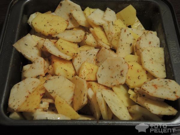 Картофель с грибами в духовке рецепт с сыром и майонезом
