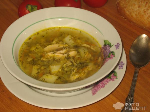 Суп куриный с чечевицей фото