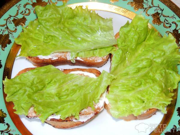 Бутерброды с листьями салата рецепты фотографиями