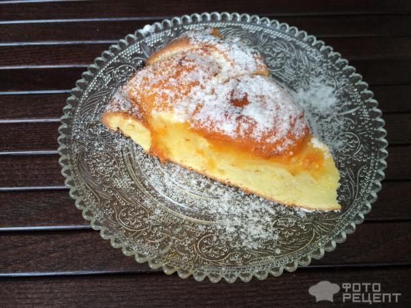 Рецепт абрикосового пирога на кефире