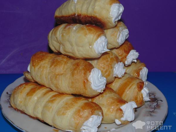 Пирожное трубочки фото