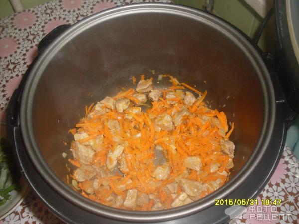 Рис в мультиварке с мясом и овощами рецепт