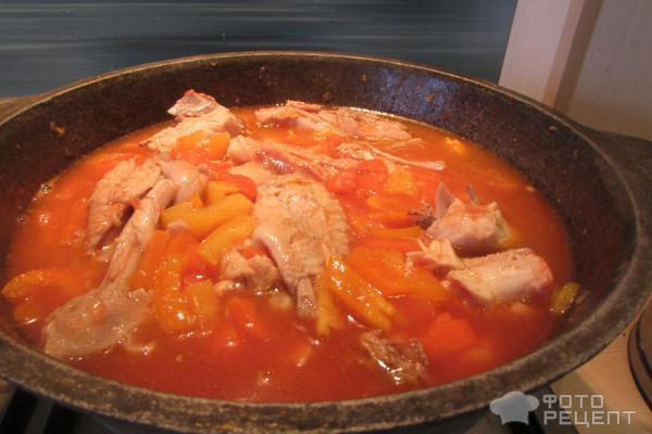 Блюда в казане из курицыы