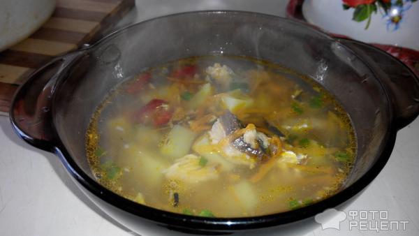 Гороховый суп с рыбными консервами