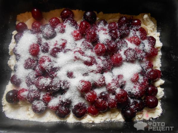 Насыпной пирог с вишней рецепт с фото