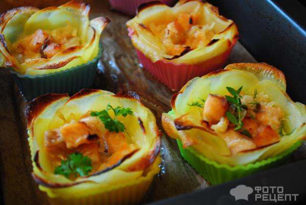 Картофельные Цветочки-корзиночки фото