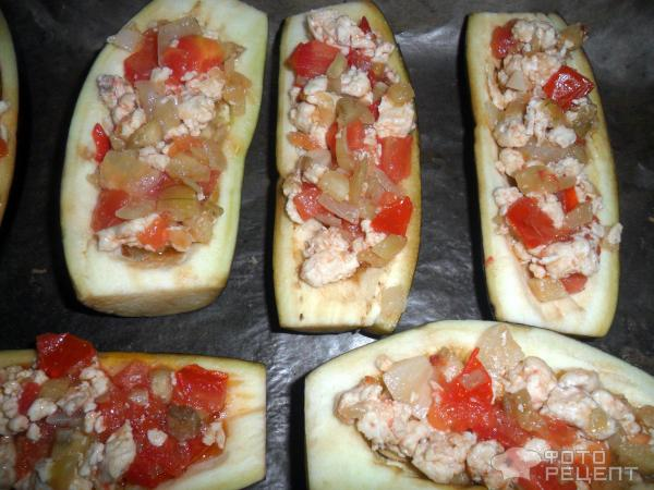 Фаршированные баклажаны с курицей запеченные в духовке рецепт