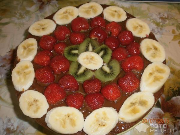 Торты из готовых коржейы с фото с фруктами