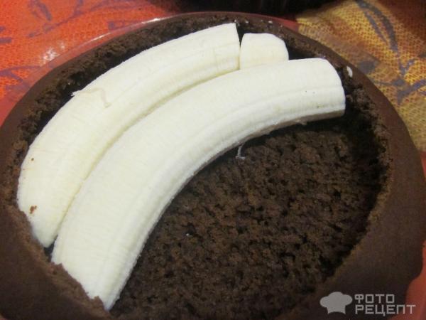 Норка крота торт с бананами и творогом рецепт