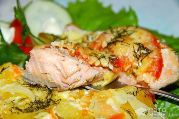 Рецепт запеченной горбуши с картофелем в духовке рецепт