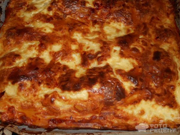 Пирог из теста Фило с сырами Брынза и Сиртаки фото