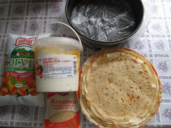 Йогуртовая начинка для блинного торта фото