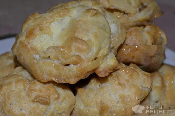 Заварные пирожные со сгущенкой фото