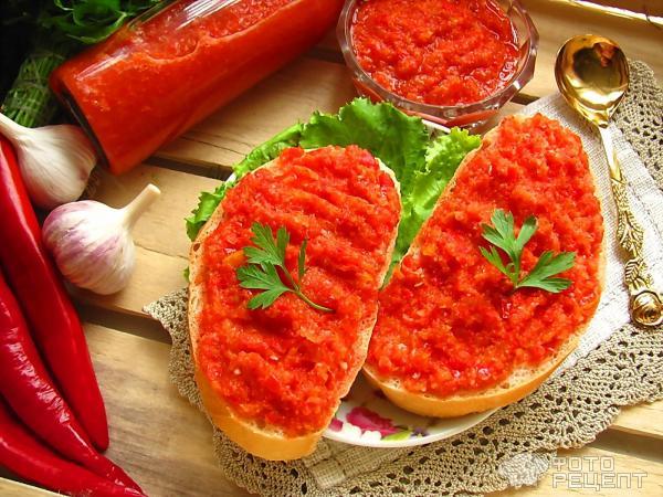 аджика сырая рецепт из болгарского перца